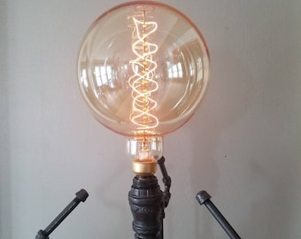 Build it yourself diy edison bulb lamp industrial pipe industrial floor lamp edison bulb floor lamp black pipe lamp industrial lamp steampunk floor lamp rustic home decor pipe light solutioingenieria Images