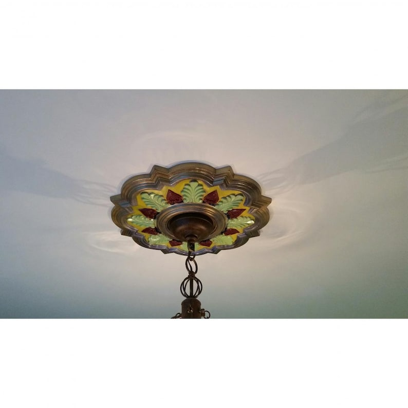 Fits Canopies up to 4 58 17 58OD X 3 58ID X 1 78P Orleans Ceiling Medallion