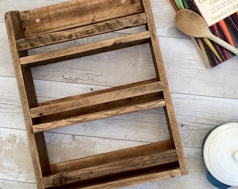 Wooden Spice Rack Etsy
