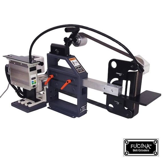 Fucina Belt Grinder D-Backing Plate with Wheels /& Platen with Tool Rest