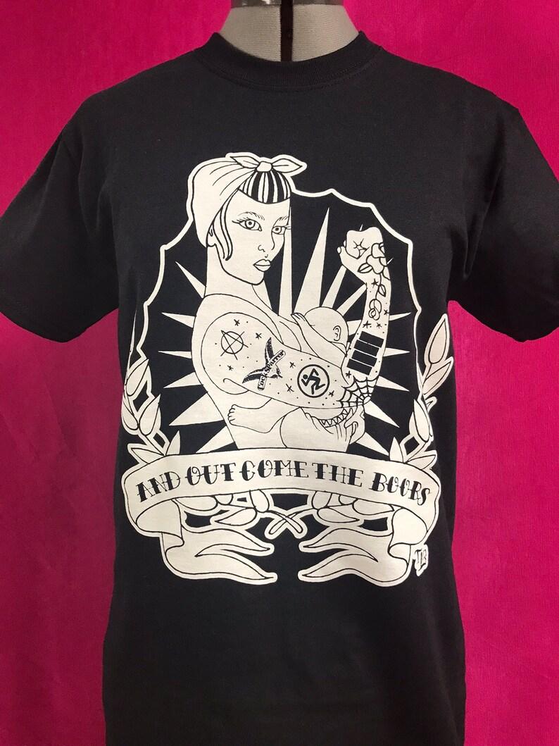 Pin Up Tattoo T-Shirt BLACK/WHITE image 0