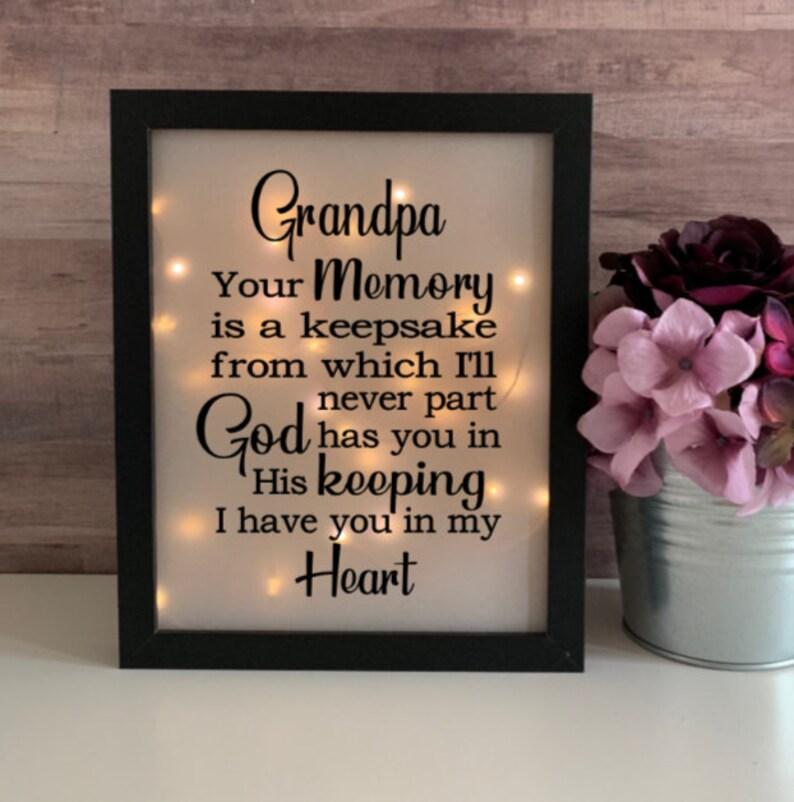 Sympathy Grandpa, Sympathy Gift, Memorial Frame, Keepsake, Bereavement  Gift, Loss of a Loved One, Memorial Shadow Box, Loss of Grandpa