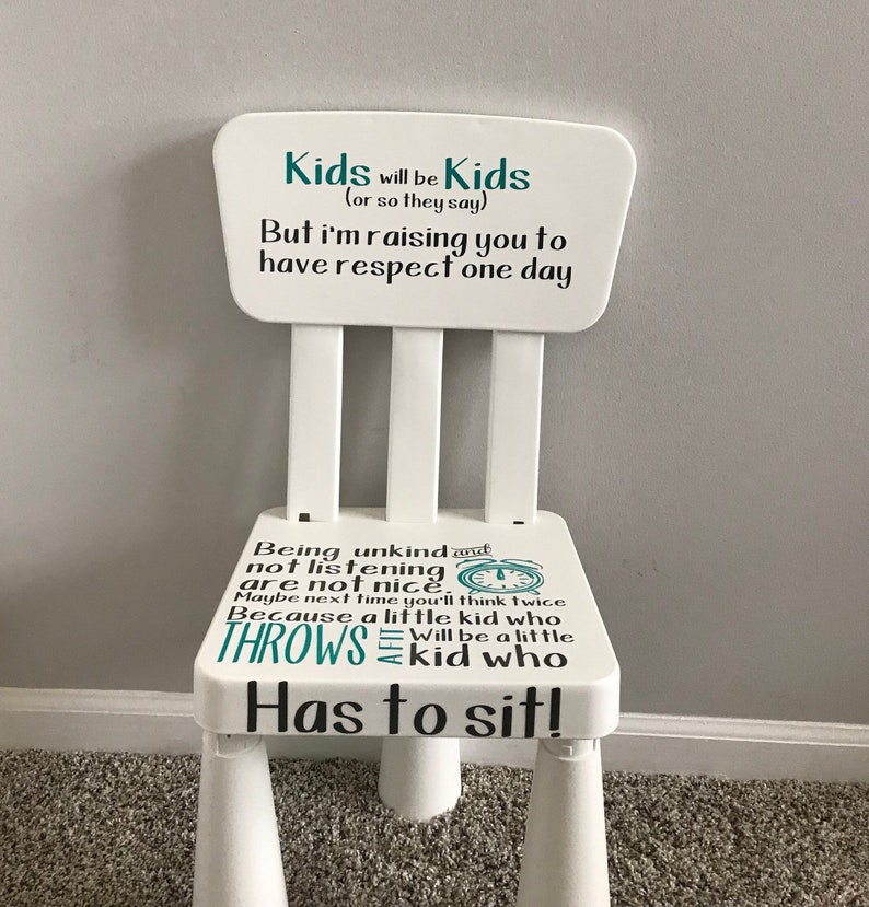image 0 ... & Three Piece Vinyl Decal Time Out Chair Decals Kids will be | Etsy