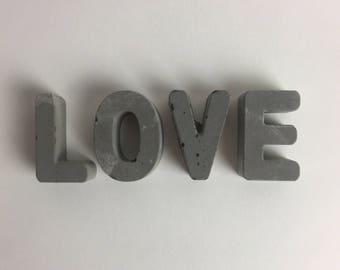 Love concrete letters