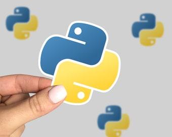 Python Sticker, Python Laptop Sticker, Python Car Sticker, Python programming language