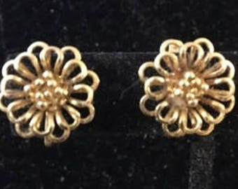 Vintage Goldtone Clip Earrings