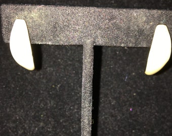 Tiny Creme Colored Pierced Earrings