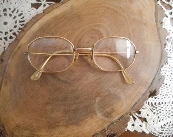 d2562dd0e45 VINTAGE 14K Gold Filled Octagonal Eyeglasses Frames