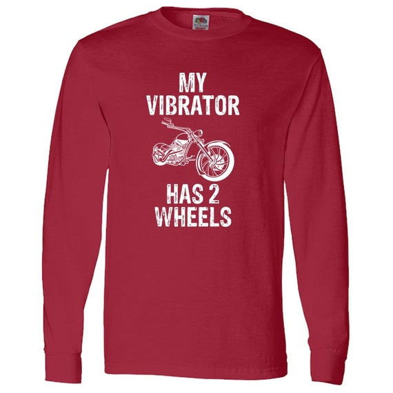Mon vibrateur a deux moto roues moto deux drôle adulte Long Sleeve Tee 00e0f0
