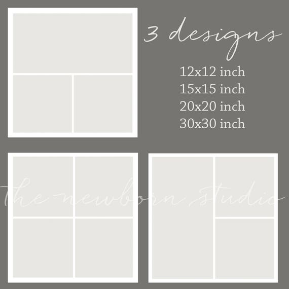 12 Pack Square Storyboard Photoshop Template Designs For Etsy