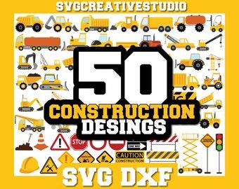 Construction SVG, Trucks Svg, Construction bundle svg, Excavator Svg, Dump Truck Svg, Bulldozer svg Files for Cricut Silhouette