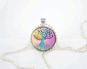 Tree of life pendant family necklace om pendant/meditation necklace/meditation charm/meditation pendant|monogram necklace|word nerd necklace
