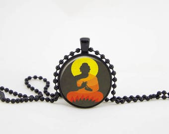 Yoga necklace, om pendant/meditation necklace/meditation charm/meditation pendant|Yoga pendant|monogram necklace|word nerd necklace