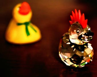 Two Duck Figurines Photo Print
