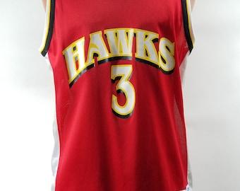 9d08323b8 Champion Atlanta Hawks Abdul-Rahim Jersey sz 44 RARE