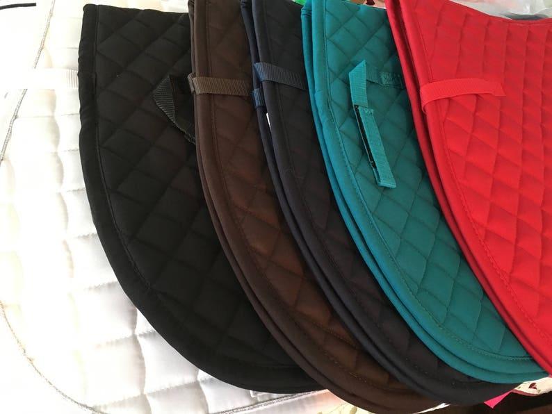 Custom Embroidered English Saddle Pad
