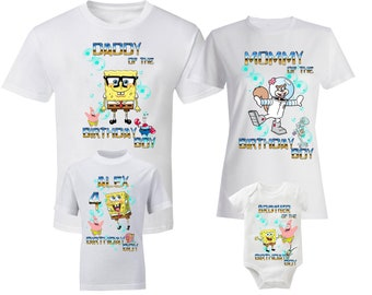81384dcdf91 SpongeBob Shirts Family SpongeBob T-Shirt SpongeBob Shirts SpongeBob T-Shirt  SpongeBob Eugene H Krabs Patrick Star Squidward