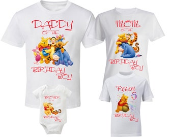 cd1f6ae3 Winnie The Pooh Shirts Birthday Family Shirt Winnie The Pooh Shirts Custom  Shirt Christopher Robin Tigger Eeyore Piglet Kanga Rabbit