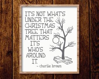 Charlie Brown Christmas Tree Silhouette.Charlie Brown Tree Etsy
