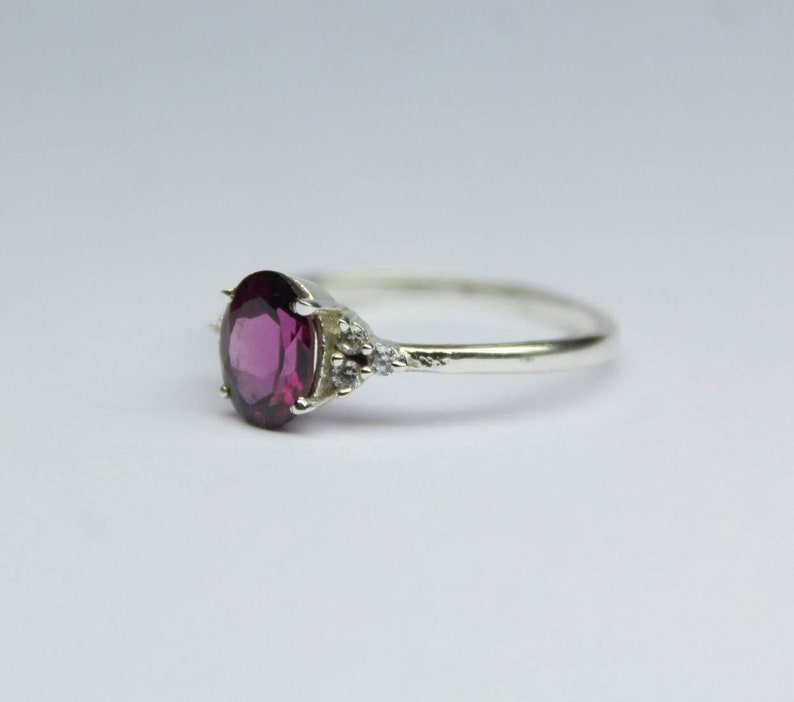 All sizes. Gift For Her,V valentine gift,Mother day Gift Natural Rhodolite Garnet 925 Sterling silver Engagement ring