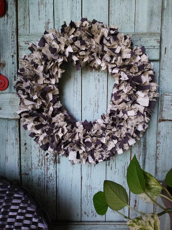 brown creme wreath Year around wreath house warming gift | Etsy