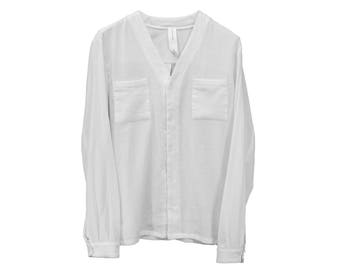 Creased V Neck Shirt