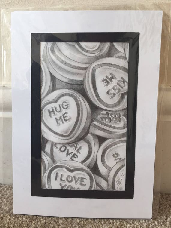 Pencil Drawing Heart. Royalty Free Stock Photography ... |Pencil Drawings Of Love Hearts