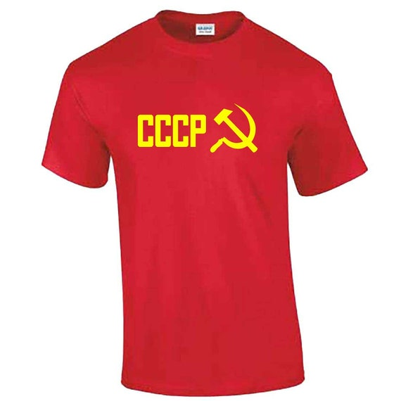 CCCP Soviet Union T shirt Russian Communits USSR T shirt All Sizes Black and Red