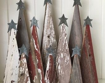 Rustic Barn Wood Christmas Trees