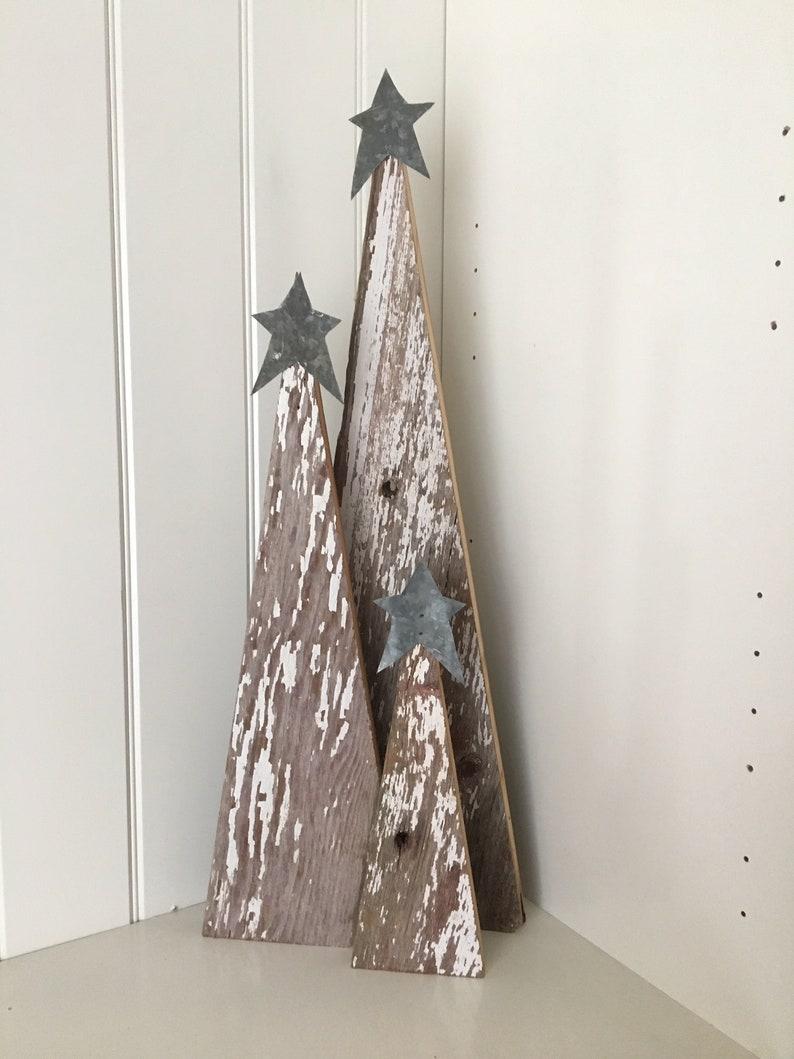 Rustic Barn Wood Christmas Trees Etsy
