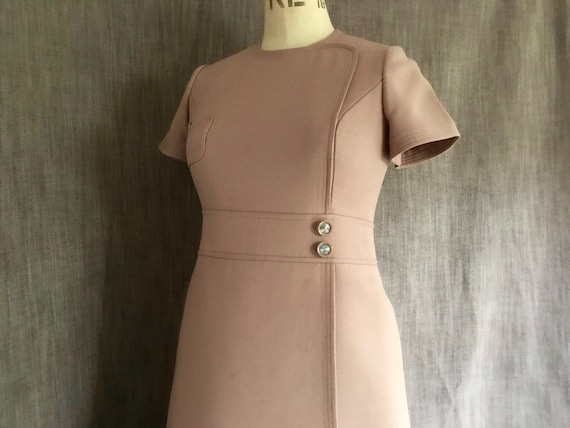 Givenchy 60s wool short sleeve dress