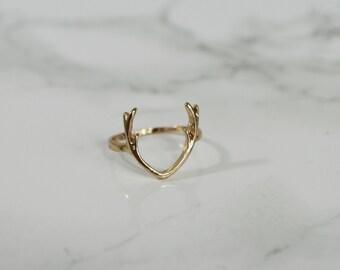 Antler Midi Ring