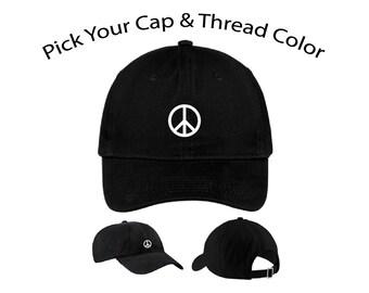 ec108fd5cae Peace Sign Dad Cap