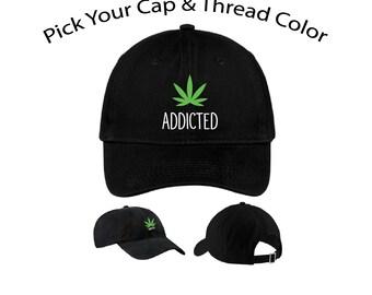 Basecap BASEBALLCAP cappuccio Cap Snapback Weed canapa colore a scelta
