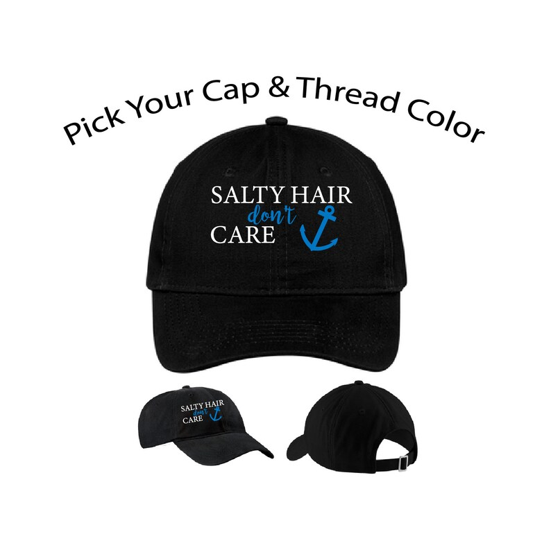 2ccaf8839629b Salty Hair Dont Care Dad Cap Salty Hair Dad Hat Funny Hat