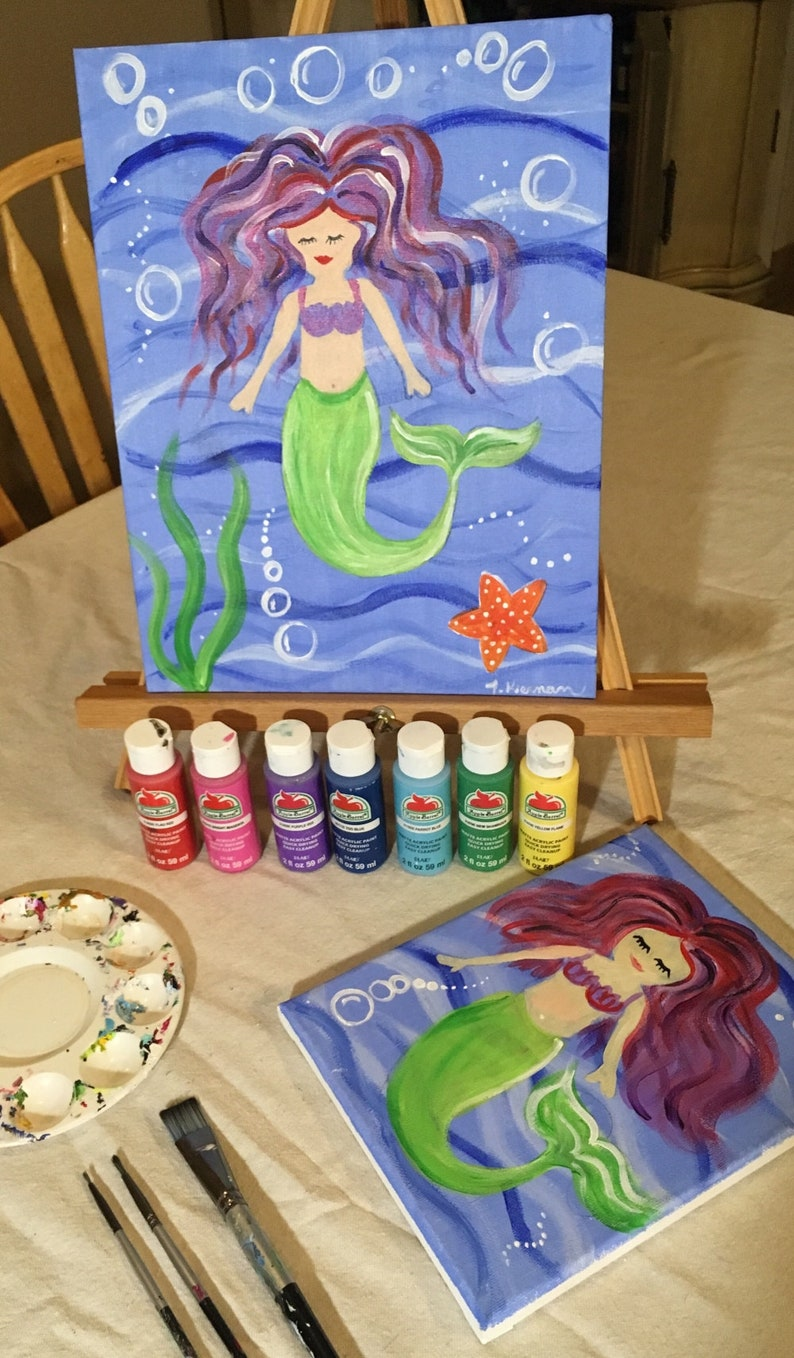 Lesson Download Mermaid Painting With Detailed Photo Step By image 0