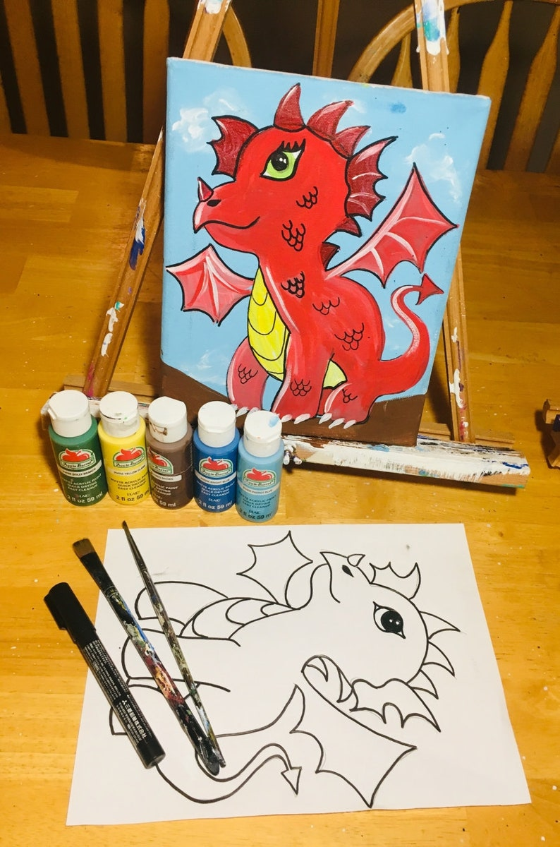 Lesson Download Dragon Painting Includes Detailed image 0