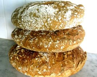 Delicious Homemade Multigrain Sourdough Bread