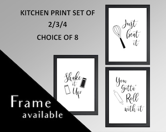 Kitchen wall art | Etsy