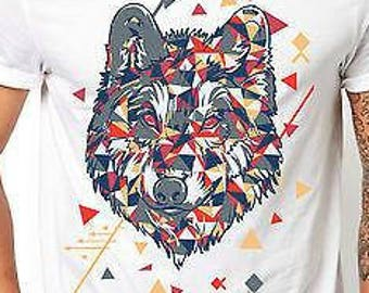 Patterned Wolf T Shirt