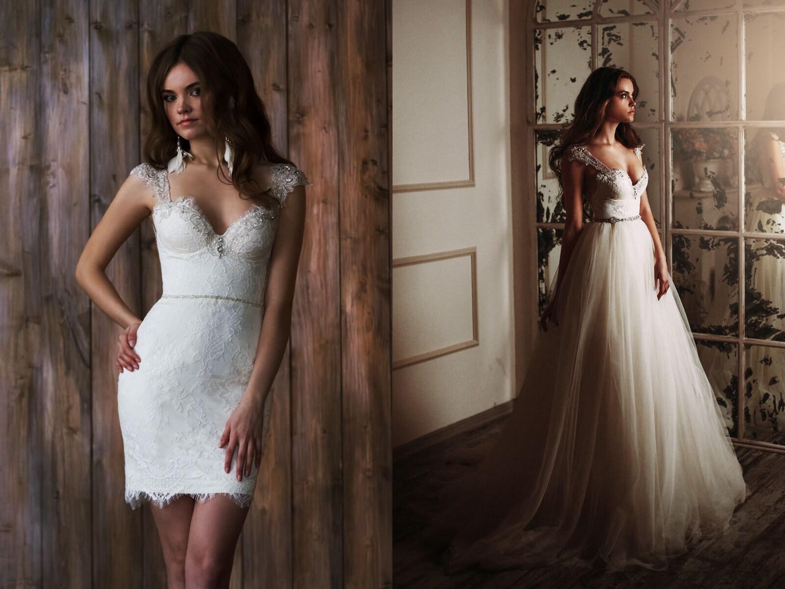 Sparkling Wedding Dress Transformer For Princess Tulle Skirt Etsy