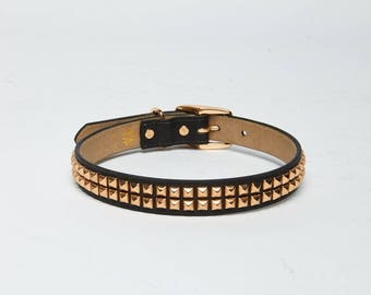 21 Inch Gold Studded Collar
