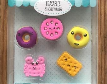 Biscuits and Donuts Eraser set