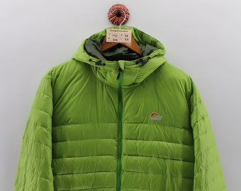 13917b2563c1 LOWE ALPINE Bomber Light Jacket Large Vintage Winter Gear Lowe Alpine Japan  Alpine Skiing Jacket Ski Wear Bomber Green Light Jacket Size L