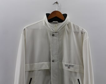 6a4346fb3 Vintage 1990 s POLO CLUB Jacket Large Polo Club Sportswear Casual Double  Pocket Jacket Worker Jacket Polo Small Pony Creamy Jacket Size L