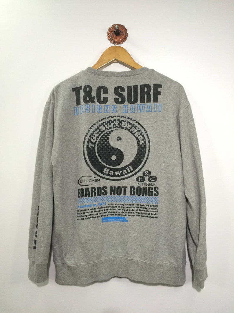 20af8090f478f T C SURF DESIGN Hawaii Sweater Mens Medium Vintage 90 s