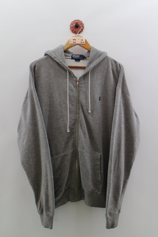 10f6e5db508ac1 Vintage Zip des années 90 POLO RALPH LAUREN Zip Vintage Sweat à capuche  unisexe Polo Oversize