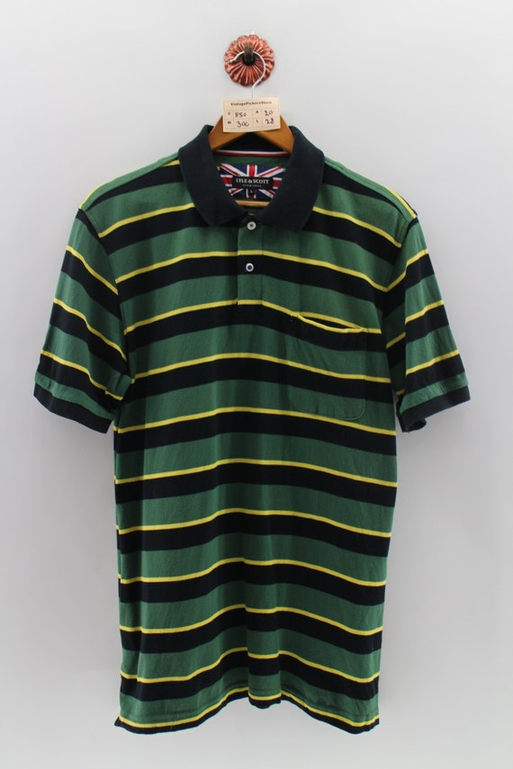 LYLE SCOTT Shirt Men Medium Vintage 1990's Lyle Sc