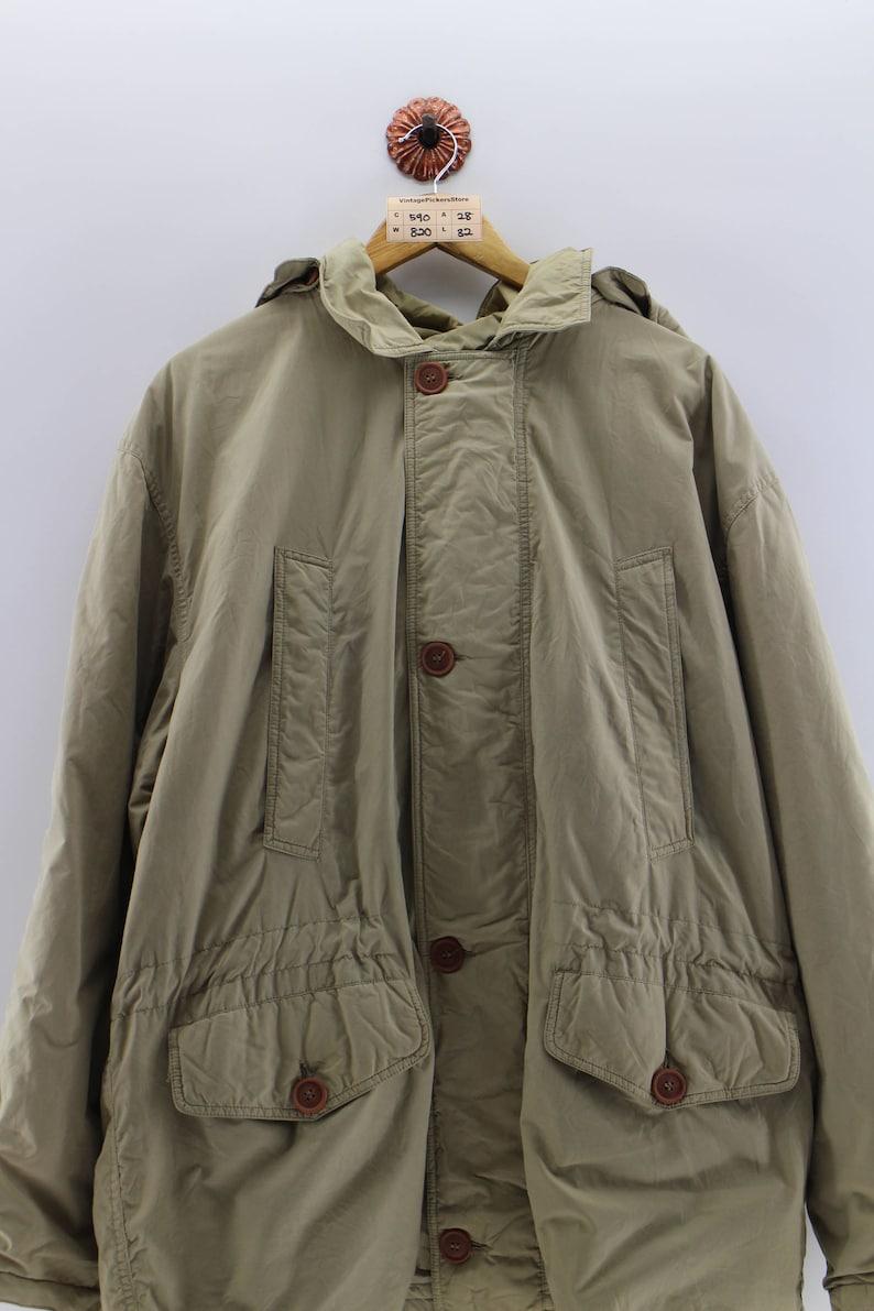 Vintage UNITED COLORS of BENETTON Parka Jacket Oversize Men 90/'s Benetton Italian Bomber Jacket Benetton Jacket Hoodie Cream Men Oversize