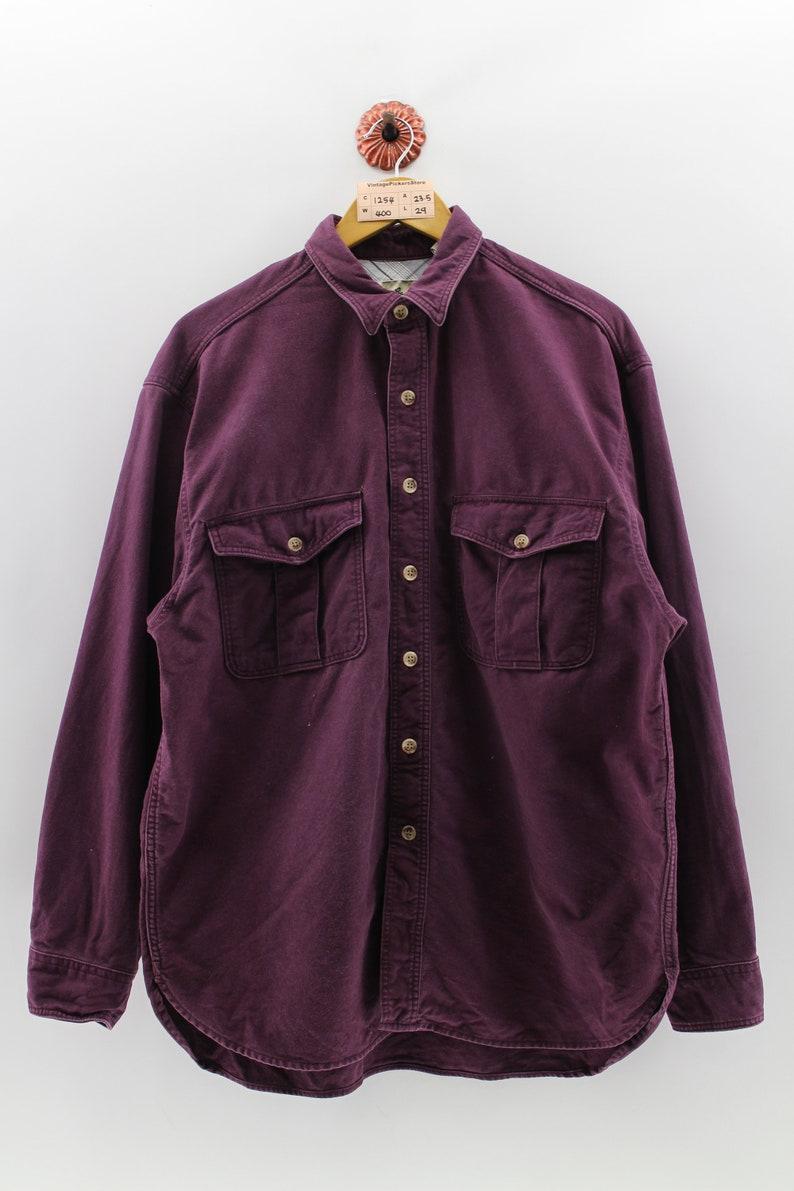 87f465761b9 EDDIE BAUER Cotton Shirt Large Vintage 90 s Eddie Bauer